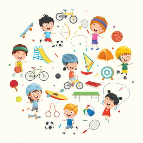 Vector Collection of Kids and Sport Illustration